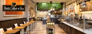 seelevel hx serves peet's coffee